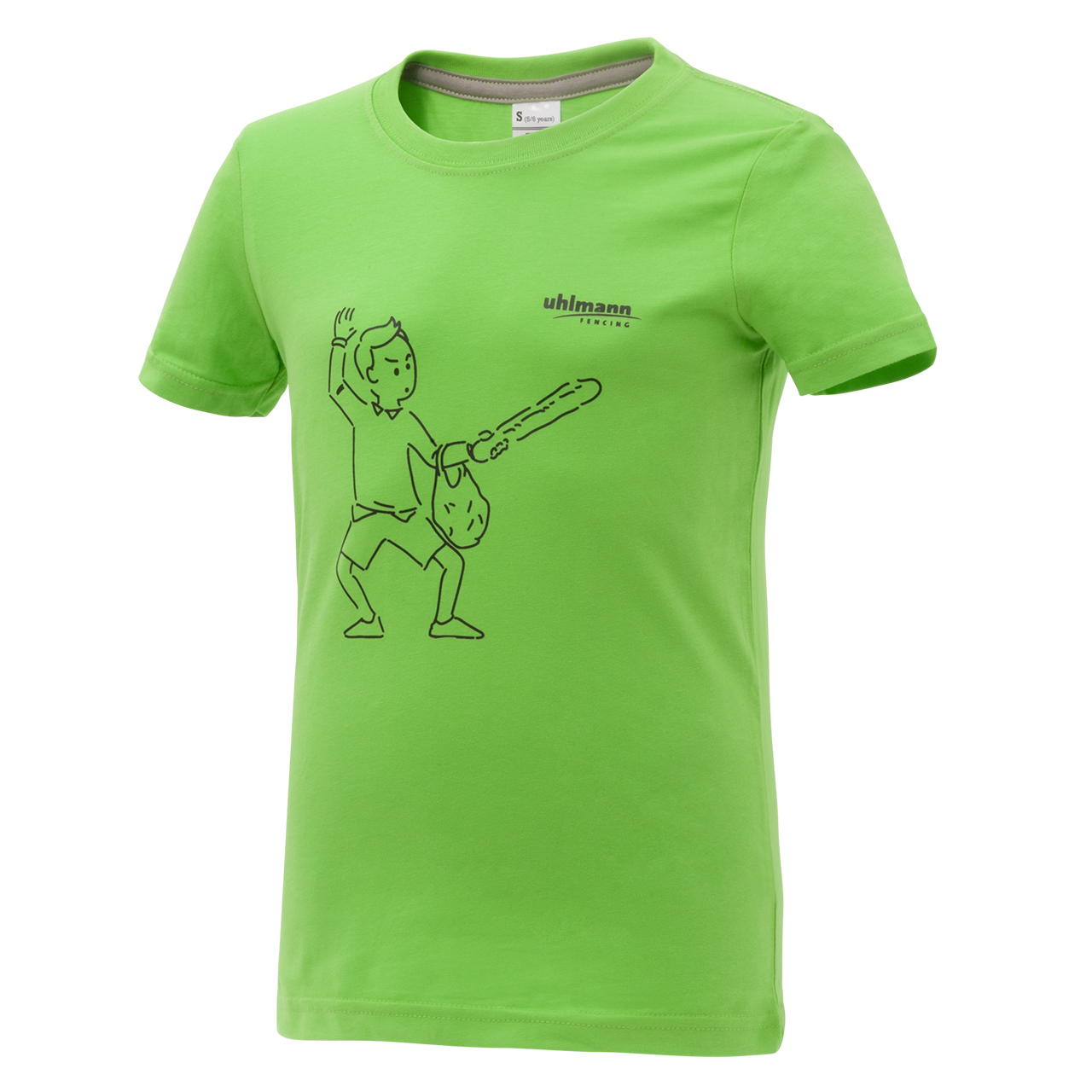 "T-shirt ""Cartoon"", green"