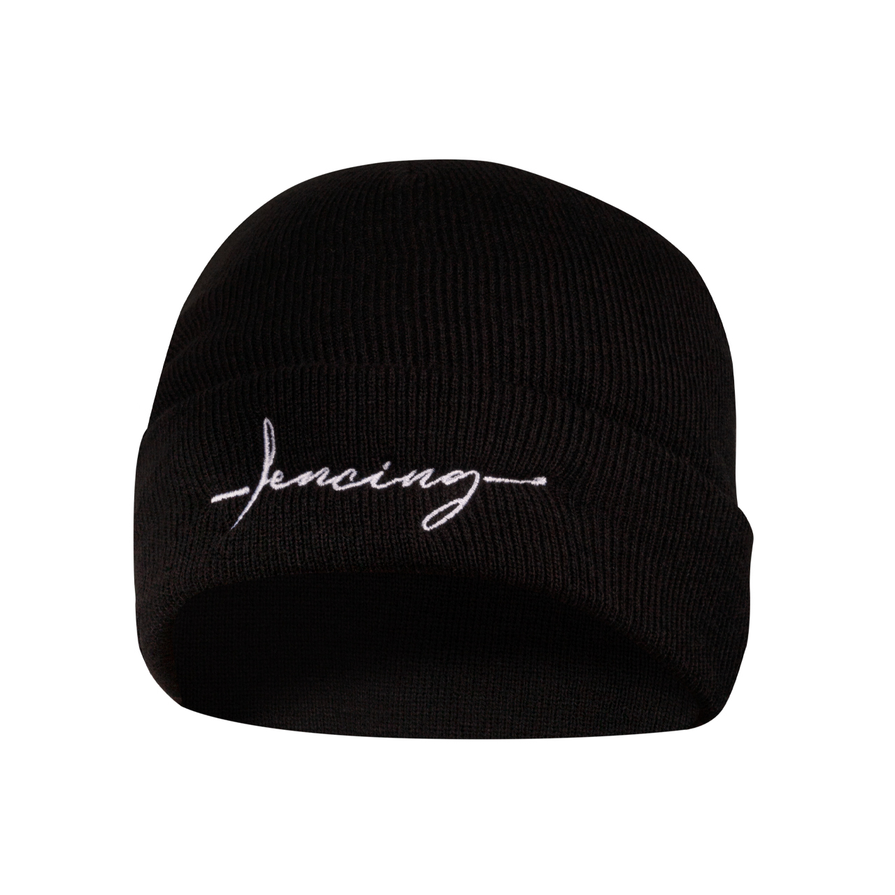 "beanie with ""Fencing"" embroidery"