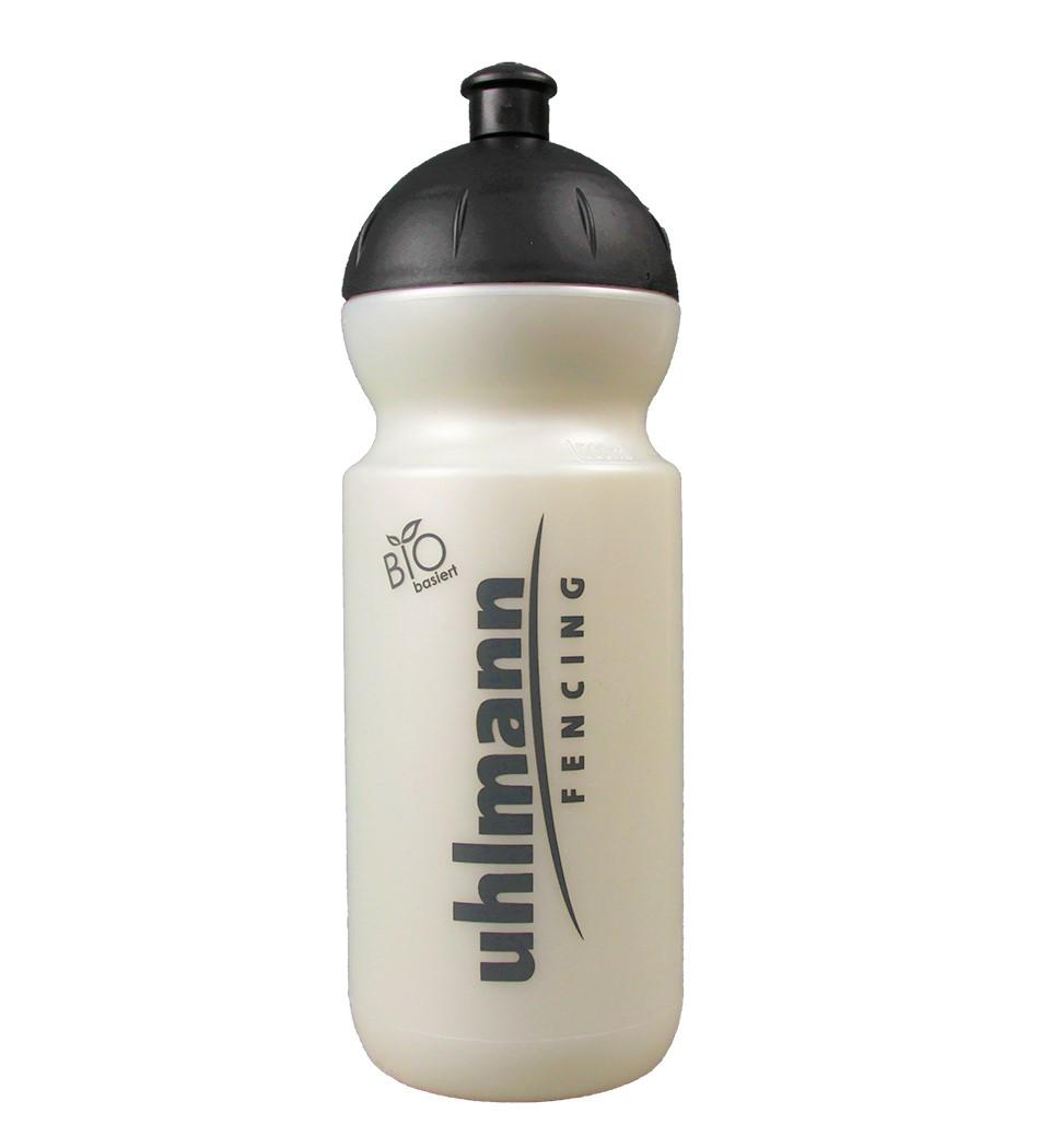 BIO Trinkflasche 0,5l, perlweiss mit schwarzem push&pull-Verschluss - schadstofffrei, ohne Weichmacher und BPA