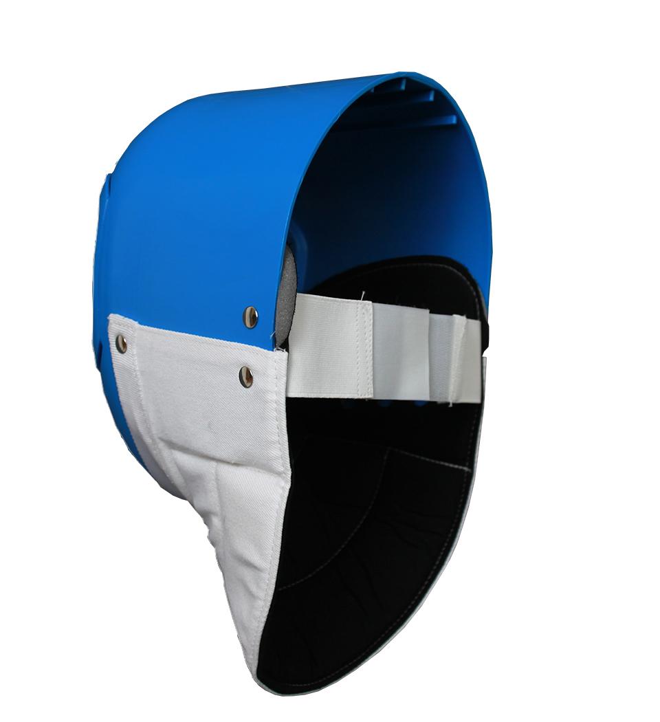 Plastikmaske, blau