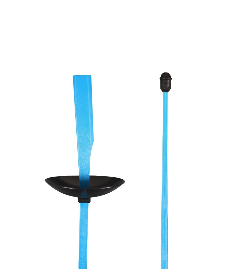 Plastikflorett mit akustischem Signal, blau
