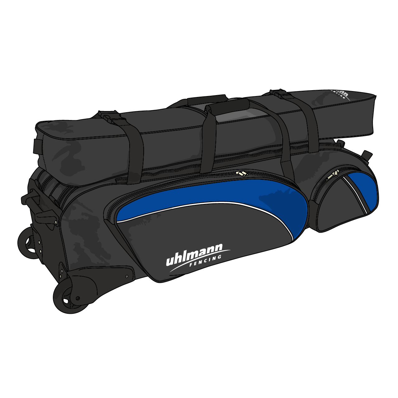 """rollbag """"Jumbo Special"""", 2 main partitions, 3 outside pockets, 1 high-top bag"""