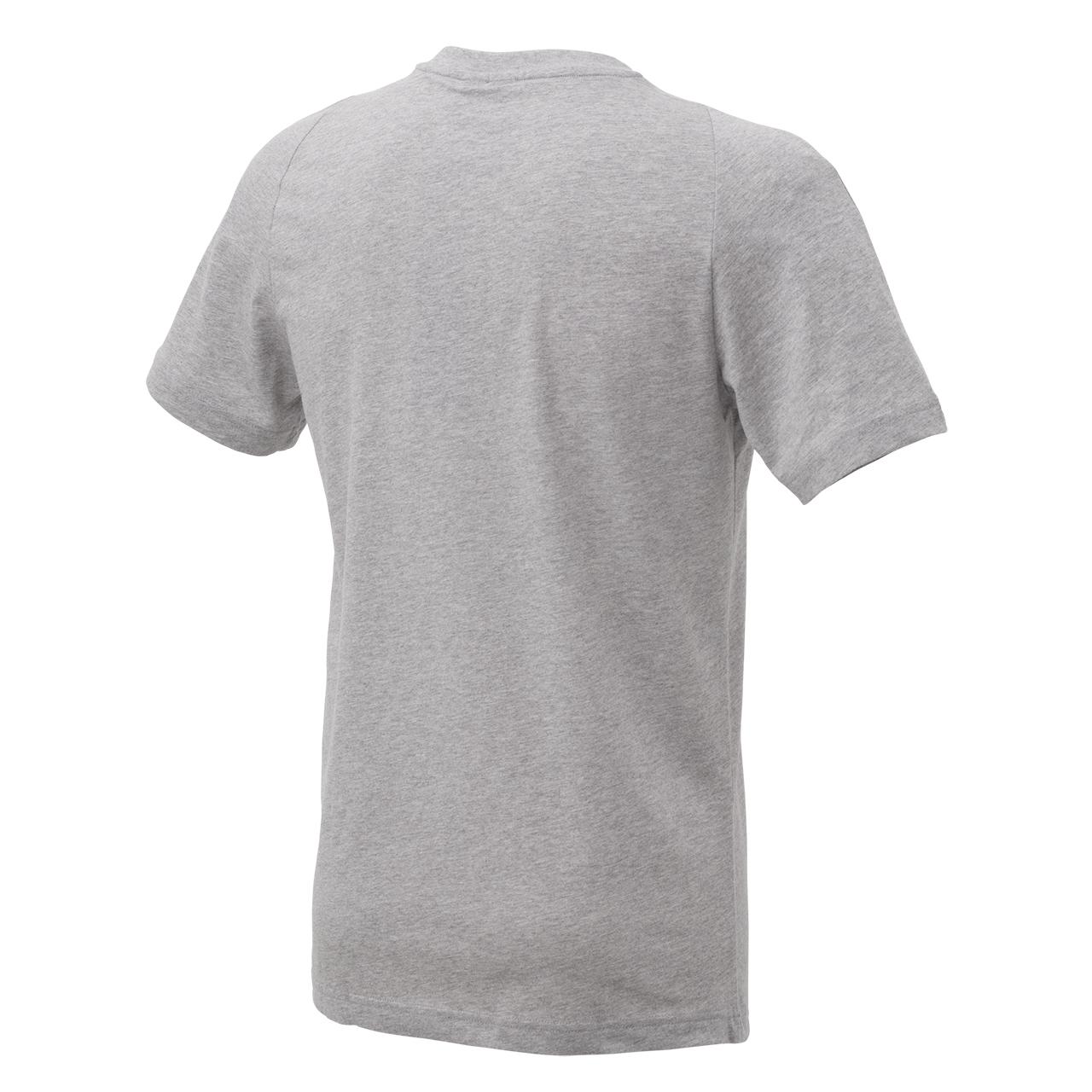 Adidas T-Shirt mit Logo, grau/petrol