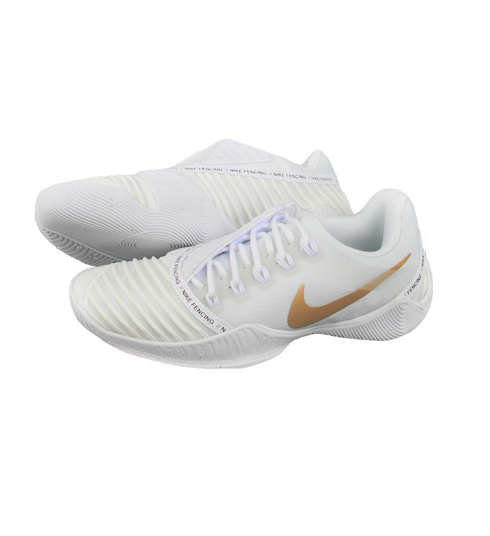 fencing shoes NIKE Ballestra 2, white/gold